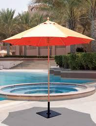 Palm Tree Patio Umbrella Galtech 9 U0027 All Purpose Single Pole Wood Patio Umbrella With