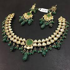 indian bead jewelry necklace images 2 pcs indian traditional gold plated green beads jewelry cm jpg
