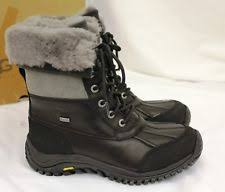 ugg australia womens black grey adirondack boots 1906 s ugg australia adirondack boot ii black grey