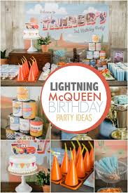 cing themed party a lightning mcqueen themed boy s birthday party spaceships and