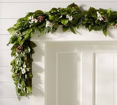 live fresh winter collection garland pottery barn