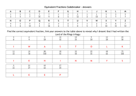 equivalent fractions codebreaker by alutwyche teaching resources