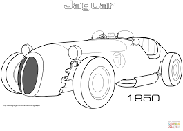 1950 jaguar xk 120 alloy roadster coloring page free printable