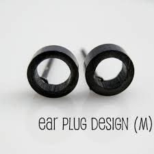 black stud earrings for guys men s circle o stud earrings black steel earrings