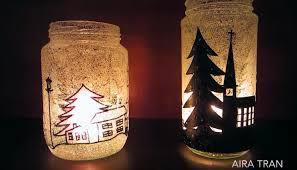 vasi in vetro economici decorazioni di natale con vasi di vetro e candele