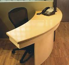 Custom Made Reception Desk Hand Crafted Curved Reception Desk By Hudson Cabinetry Design
