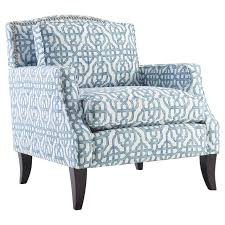 Blue Occasional Chair Design Ideas Furniture Blue Upholstered Accent Chair With Wooden Flared Leg