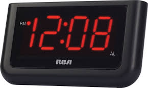New Jersey travel alarm clocks images Rca digital alarm clock with large 1 4 quot display home jpg