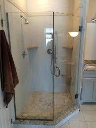 Oil Rubbed Bronze Frameless Shower Door by Economy Glass Frameless Showers