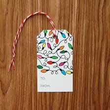 christmas lights gift tags set of 20 christmas lights design