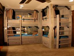 One Person Bunk Bed Apartments Four Bunk Beds Marvelous Storage Ideas For A Small