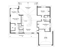 modern one story house plans hahnow