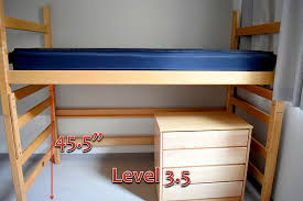 3 Level Bunk Bed Bed Heights And Furnishings Claremont Mckenna College