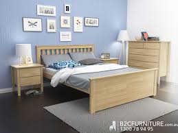 Bedroom Furniture Modern Melbourne Dandenong Queen Bed Frame Timber B2c Furniture