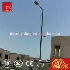 decorative street light poles round conical shape aluminum profile decorative street lighting pole