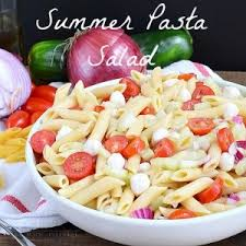 Summer Pasta Salad Recipes Cucumber And Tomato Pasta Salad Home Made Interest