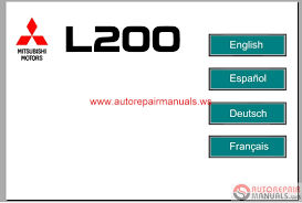 mitsubishi l200 eur 2007 service manual auto repair manual forum