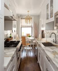 kitchen ideas for small kitchens galley cozy manhattan apartment combines vintage flare with modern touches