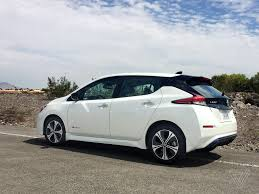 nissan hatchback 2018 nissan leaf first drive better without branching out the verge