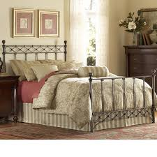 iron bed diamond wire design copper chrome finish