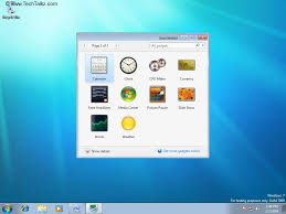 gadgets bureau windows 8 configure desktop gadgets in windows 7 windows 7