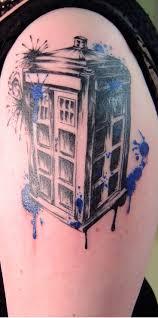 best 25 tardis tattoo ideas on pinterest doctor who tattoos black and gray tardis tattoo with splashes of tardis blue