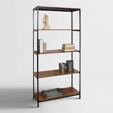 4 Sided Bookshelf Our Bookcase Pairs A Black Metal Frame With Chestnut Finished Wood