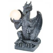 dragon table lamp gothic home decor caymancode