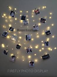 string lights with picture clips mason firefly lights silver wire craft clips batteries included