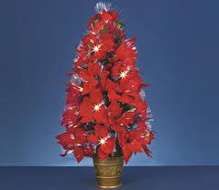 poinsettia fiber optic christmas tree christmas lights decoration