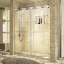 60 Shower Doors Dreamline Charisma Sliding Shower Door 56 60 In W X 76 In H