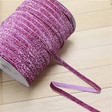 pink velvet ribbon aliexpress buy 3 8 10mm sparkle glitter hot pink velvet