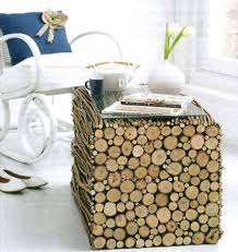 How To Make A Wooden End Table by 40 Diy Log Ideas Take Rustic Decor To Your Home Amazing Diy