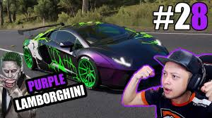 lamborghini purple galaxy purple lamborghini joker forza horizon 3 indonesia 28 youtube