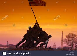 Flag Iwo Jima Statue Von Marines Die Amerikanische Flagge Iwo Jima Memorial