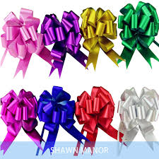 pull bows 100pcs 18mm width luster flower pull bows gift ribbon for party