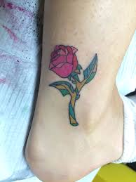 beauty and the beast rose tattoo disney related pinterest