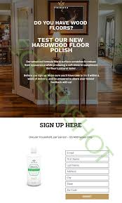free bottle of trinova hardwood floor premium wood care