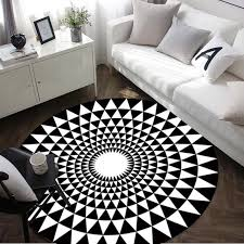 Black And White Modern Rug Modern Geometry Carpet Black White Rug Carpets For Living