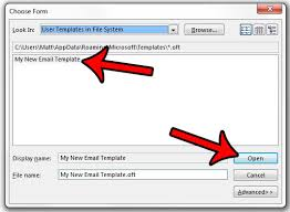 how to create an email from a template in outlook 2013 solve