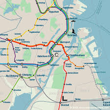 Copenhagen Map Map Of Copenhagen Metro S Train Mapa Metro
