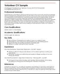 Sle Resume by Resume Volunteer Experience Sle 28 Images Resume Volunteer