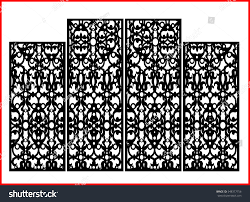 vintage precisedetailed screen laser cut panel stock vector