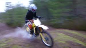 suzuki rm 125 1983 vintage dirtbike first test youtube