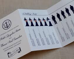 tri fold wedding program tri fold wedding program