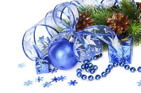 wallpapers blue decoration christmas new year decorations loversiq