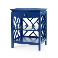 Navy Side Table Modclair Side Tables Accent Tables Nantucket 1 Drawer Side