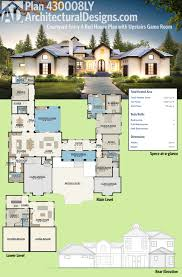 House Plans With Media Room Plan 430006ly 4 Bed Modern House Plan With Upstairs In Law Suite