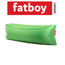 fatboy lamzac instantly inflatable outdoor lounger the green head