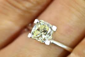 1 Carat Cushion Cut Engagement Ring Diadia Rakuten Global Market 1 Carat Vvs2 Diamonds Light Yellow